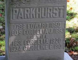 PARKHURST, CORDELIA J. - Erie County, Ohio | CORDELIA J. PARKHURST - Ohio Gravestone Photos