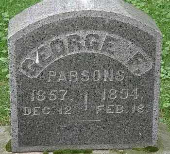 PARSONS, GEORGE F. - Erie County, Ohio | GEORGE F. PARSONS - Ohio Gravestone Photos
