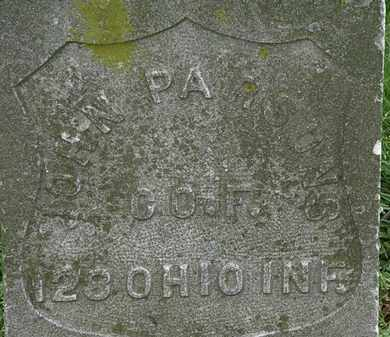 PARSONS, JOHN - Erie County, Ohio | JOHN PARSONS - Ohio Gravestone Photos