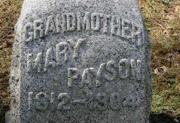 PAYSON, MARY - Erie County, Ohio | MARY PAYSON - Ohio Gravestone Photos