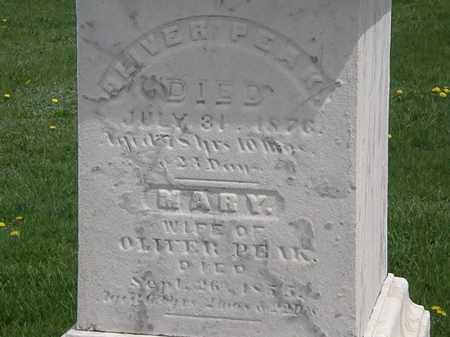 PEAK, OLIVER - Erie County, Ohio | OLIVER PEAK - Ohio Gravestone Photos