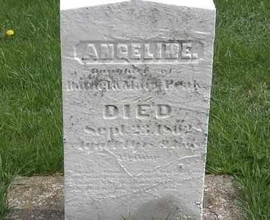 PEAKE, ANGELINE - Erie County, Ohio | ANGELINE PEAKE - Ohio Gravestone Photos