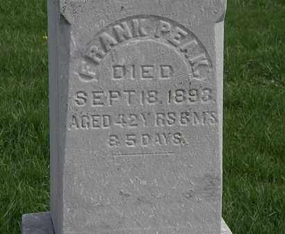 PEAKE, FRANK - Erie County, Ohio | FRANK PEAKE - Ohio Gravestone Photos