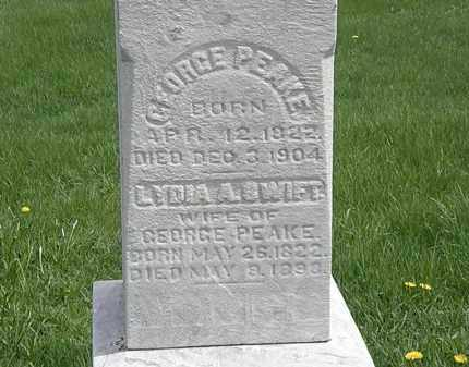 PEAKE, GEORGE - Erie County, Ohio | GEORGE PEAKE - Ohio Gravestone Photos