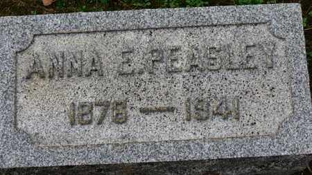 PEASLEY, ANNA E. - Erie County, Ohio | ANNA E. PEASLEY - Ohio Gravestone Photos