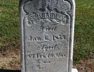 PECK, ELISHA - Erie County, Ohio | ELISHA PECK - Ohio Gravestone Photos