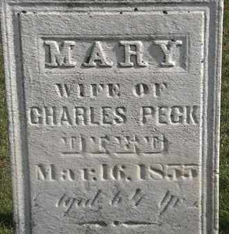 PECK, MARY - Erie County, Ohio | MARY PECK - Ohio Gravestone Photos
