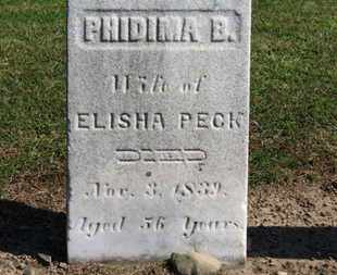 PECK, PHIDIMA B. - Erie County, Ohio | PHIDIMA B. PECK - Ohio Gravestone Photos