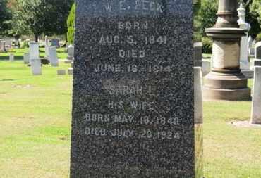 PECK, SARAH L. - Erie County, Ohio | SARAH L. PECK - Ohio Gravestone Photos