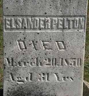 PELTON, ELSANDER - Erie County, Ohio | ELSANDER PELTON - Ohio Gravestone Photos