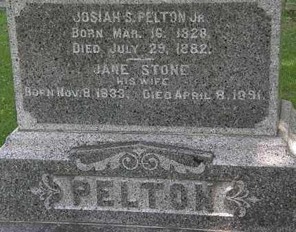 STONE PELTON, JANE - Erie County, Ohio | JANE STONE PELTON - Ohio Gravestone Photos
