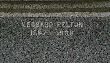 PELTON, LEONARD - Erie County, Ohio | LEONARD PELTON - Ohio Gravestone Photos