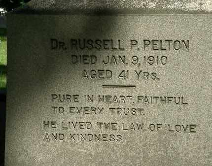 PELTON, RUSSELL P. - Erie County, Ohio | RUSSELL P. PELTON - Ohio Gravestone Photos