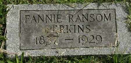 RANSOM PERKINS, FANNIE - Erie County, Ohio | FANNIE RANSOM PERKINS - Ohio Gravestone Photos