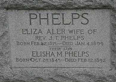 ALER PHELPS, ELIZA - Erie County, Ohio | ELIZA ALER PHELPS - Ohio Gravestone Photos