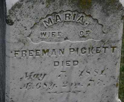 PICKETT, MARIA - Erie County, Ohio | MARIA PICKETT - Ohio Gravestone Photos