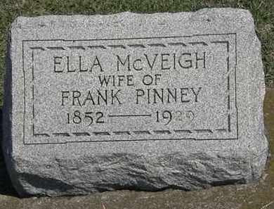 MCVEIGH PINNEY, ELLA - Erie County, Ohio | ELLA MCVEIGH PINNEY - Ohio Gravestone Photos