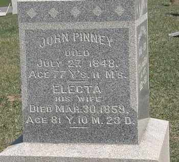 PINNEY, ELECTA - Erie County, Ohio | ELECTA PINNEY - Ohio Gravestone Photos