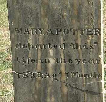 POTTER, MARY A. - Erie County, Ohio | MARY A. POTTER - Ohio Gravestone Photos