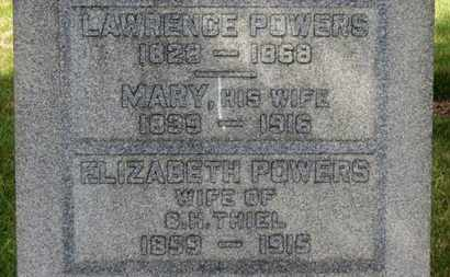 POWERS, MARY - Erie County, Ohio | MARY POWERS - Ohio Gravestone Photos