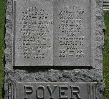 POYER, JOHN H. - Erie County, Ohio | JOHN H. POYER - Ohio Gravestone Photos