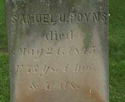 POYNS, SAMUEL U. - Erie County, Ohio | SAMUEL U. POYNS - Ohio Gravestone Photos
