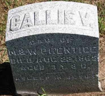 PRENTICE, CALLIE V. - Erie County, Ohio   CALLIE V. PRENTICE - Ohio Gravestone Photos