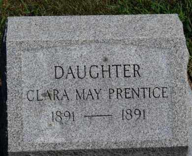 PRENTICE, CLARA MAY - Erie County, Ohio | CLARA MAY PRENTICE - Ohio Gravestone Photos