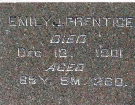 PRENTICE, EMILY J. - Erie County, Ohio | EMILY J. PRENTICE - Ohio Gravestone Photos