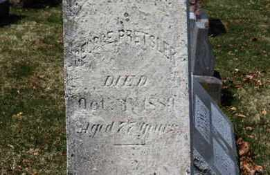 PRETSLER, GEORGE - Erie County, Ohio | GEORGE PRETSLER - Ohio Gravestone Photos