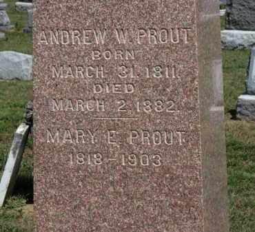 PROUT, MARY E. - Erie County, Ohio | MARY E. PROUT - Ohio Gravestone Photos