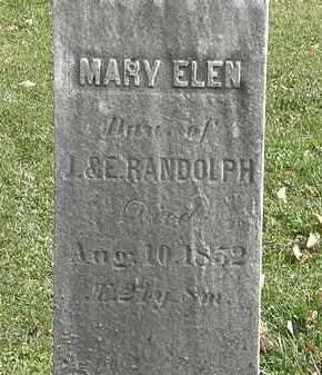 RANDOLPH, MARY ELEN - Erie County, Ohio | MARY ELEN RANDOLPH - Ohio Gravestone Photos