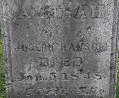 RANSOM, AZUBAH - Erie County, Ohio | AZUBAH RANSOM - Ohio Gravestone Photos
