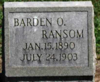 RANSOM, BARDEN O. - Erie County, Ohio | BARDEN O. RANSOM - Ohio Gravestone Photos