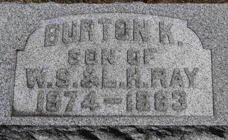 RAY, BURTON K. - Erie County, Ohio | BURTON K. RAY - Ohio Gravestone Photos