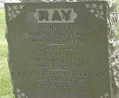 RAY, MARY JANE - Erie County, Ohio | MARY JANE RAY - Ohio Gravestone Photos