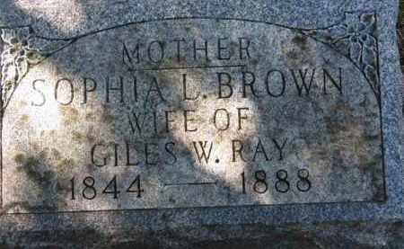 RAY, SOPHIA L. - Erie County, Ohio | SOPHIA L. RAY - Ohio Gravestone Photos