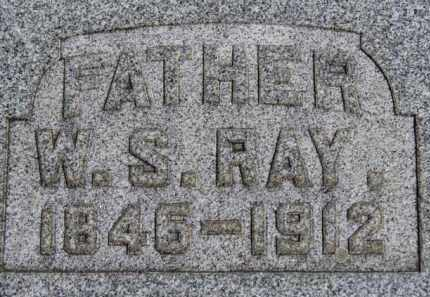 RAY, W.S. - Erie County, Ohio | W.S. RAY - Ohio Gravestone Photos