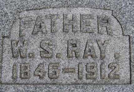 RAY, W.S. - Erie County, Ohio | W.S. RAY - Ohio Gravestone Photos