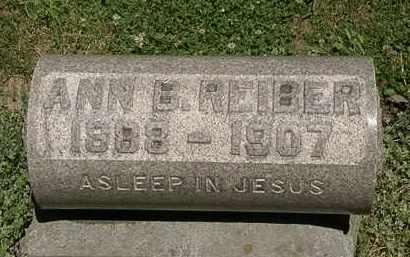 REIBER, ANN B. - Erie County, Ohio   ANN B. REIBER - Ohio Gravestone Photos