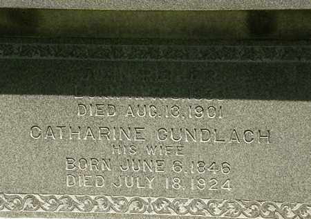 GUNDLACH REIBER, CATHARINE - Erie County, Ohio | CATHARINE GUNDLACH REIBER - Ohio Gravestone Photos
