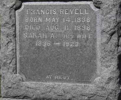 REVELL, SARAH A. - Erie County, Ohio | SARAH A. REVELL - Ohio Gravestone Photos