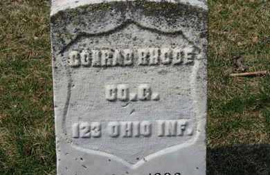 RHODE, CONRAD - Erie County, Ohio | CONRAD RHODE - Ohio Gravestone Photos