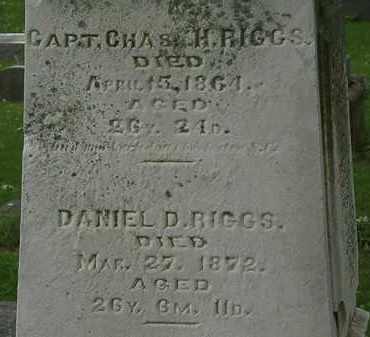 RIGGS, DANIEL D. - Erie County, Ohio | DANIEL D. RIGGS - Ohio Gravestone Photos