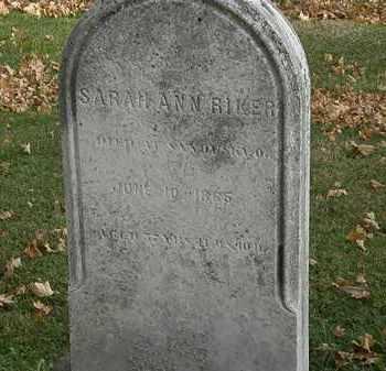 RIKER, SARAH ANN - Erie County, Ohio | SARAH ANN RIKER - Ohio Gravestone Photos