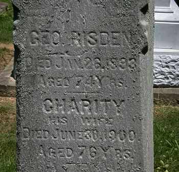 RISDEN, GEO. - Erie County, Ohio | GEO. RISDEN - Ohio Gravestone Photos