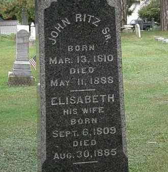 RITZ, ELISABETH - Erie County, Ohio | ELISABETH RITZ - Ohio Gravestone Photos
