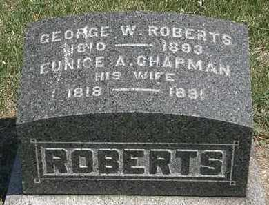 ROBERTS, GEORGE W. - Erie County, Ohio | GEORGE W. ROBERTS - Ohio Gravestone Photos