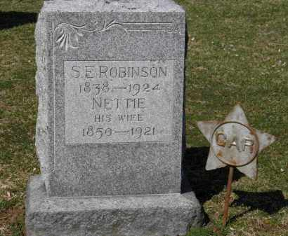 ROBINSON, NETTIE - Erie County, Ohio | NETTIE ROBINSON - Ohio Gravestone Photos