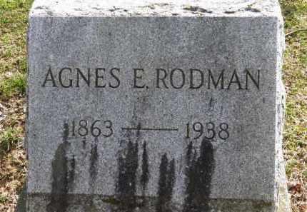 RODMAN, AGNES E. - Erie County, Ohio | AGNES E. RODMAN - Ohio Gravestone Photos